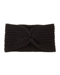 Hat Attack Knotted Ribbed Headband Black