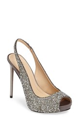 Imagine By Vince Camuto Women's 'Pavi' Slingback Peep Toe Pump Storm Grey Satin