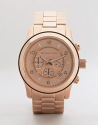 Michael Kors Runway Stainless Steel Bracelet In Rose Gold Mk8096 Rose Gold