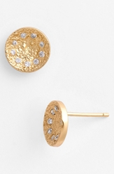 Melinda Maria 'Mini Nelly' Pod Stud Earrings Gold Clear