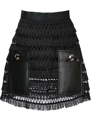 Toga Faux Leather Panelled Mini Skirt Black