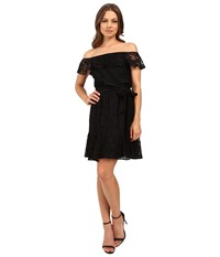 Jessica Simpson Lace Off The Shoulder Dress Js6d8622 Black Women's Dress