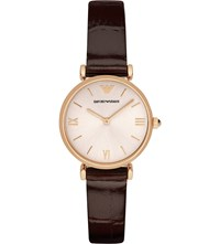 Emporio Armani Ar1911 Rose Gold Plated Stainless Steel Watch Burgundy