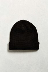 Urban Outfitters Uo Waffle Beanie Black