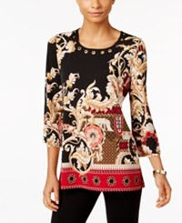 Jm Collection Printed Grommet Top Only At Macy's Adorning Mix
