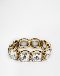 Little Mistress Stone Stretch Bracelet Gold