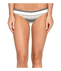 Vitamin A Luciana Full Coverage Bottom St. Lucia Stripe Women's Swimwear White