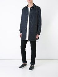 Guild Prime Relaxed Fit Button Up Classic Trench Coat Black