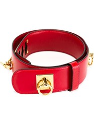 Celine Vintage Chain Belt Red