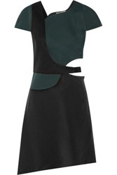 3.1 Phillip Lim Cutout Duchesse Satin And Crepe Dress Black