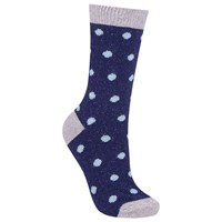 John Lewis Wool And Silk Blend Spot Ankle Socks Navy Pastel Blue