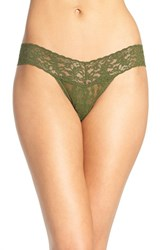 Hanky Panky Women's 'Signature Lace' Low Rise Thong Woodland Green