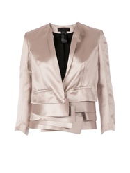 Haider Ackermann Multi Layered Cropped Jacket Nude And Neutrals