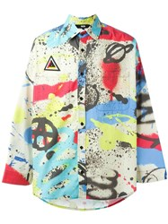 Ktz Graffiti Print Shirt Multicolour