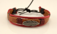 Free Shipping Men's Leather Adjustable Bracelet Mens By Bstyle