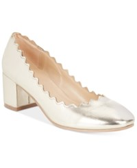 Wanted Mia Block Heel Pumps Women's Shoes Gold Metallic