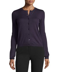 Red Valentino Long Sleeve Button Front Cardigan Viola Women's