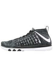 Nike Performance Train Fast Flyknit Sports Shoes Black White Anthracite Cool Grey Volt