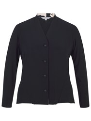 Chesca Jersey Shrug With Contrast Print Trim Navy