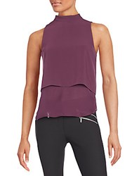 Elizabeth And James Tashi Sleeveless Blouse Purple