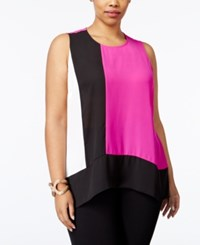 Inc International Concepts Plus Size High Low Colorblocked Shell Only At Macy's