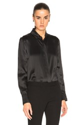 Alexandre Vauthier Silk Blouse In Black