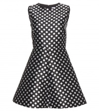 Red Valentino Polka Dot Dress Black