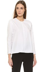 Wes Gordon Button Detail Blouse White