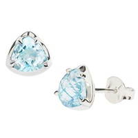 Dinny Hall Sheba Sterling Silver Blue Topaz Stud Earrings Blue