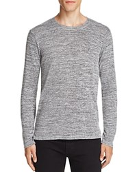 Velvet Wallace Melange Long Sleeve Tee Charcoal Grey