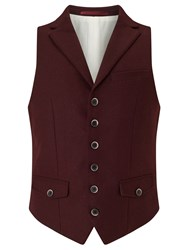 John Lewis And Co. Collared Waistcoat Oxblood