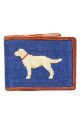 Men's Smathers And Branson 'Yellow Lab' Needlepoint Wallet