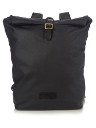 Malle Edward Cotton Canvas Backpack Navy Multi