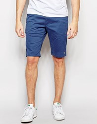 Farah Chino Shorts In Stretch Cotton Blue