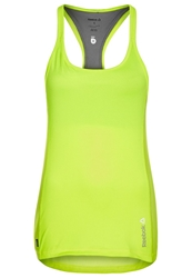 Reebok Sports Shirt Neon Yellow Grey