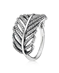 Pandora Design Pandora Ring Sterling Silver And Cubic Zirconia Light As A Feather