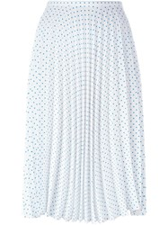 J.W.Anderson J.W. Anderson Polka Dot Pleated Skirt White