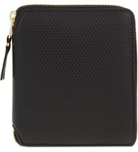 Comme Des Garcons Square Textured Leather Wallet Black