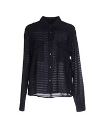 M.Grifoni Denim Shirts Shirts Women Dark Blue