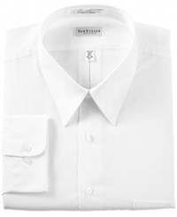 Van Heusen Men's Classic Fit Non Iron Poplin Dress Shirt White
