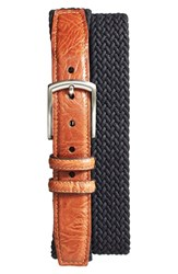 Men's Torino Belts Braided Stretch Cotton Belt Black