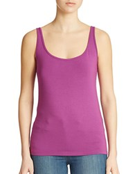Lord And Taylor Iconic Fit Slimming Scoopneck Tank Byzanthium