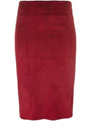 Stouls 'Gilda' Pencil Skirt Red