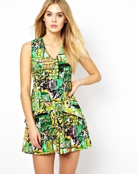 Arrogant Cat London Printed Jacquard Prom Dress
