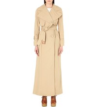 See By Chloe Full Length Cotton Twill Trench Coat Dust