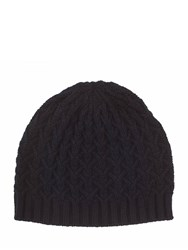 Johnstons Of Elgin Cashmere Quilted Texture Hat Black