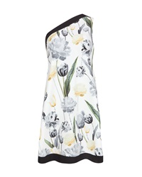 Ted Baker Roxanie Paper Petals One Shoulder Tunic White