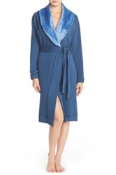 Ugg Duffield Double Knit Robe Blue