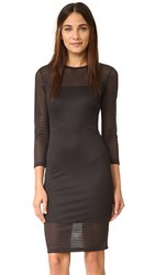 Ali And Jay Textured Cutout Dress Black