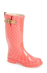 Chooka 'Classic Dot' Rain Boot Women Coral